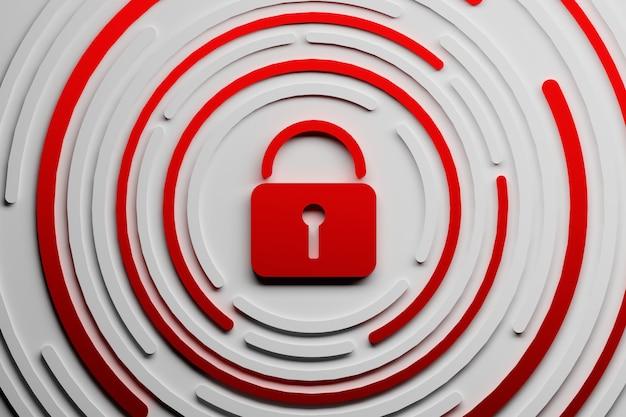 赤い南京錠 Premium写真