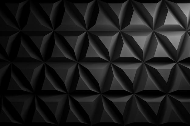 黒い色で幾何学的図形を繰り返しの背景 Premium写真
