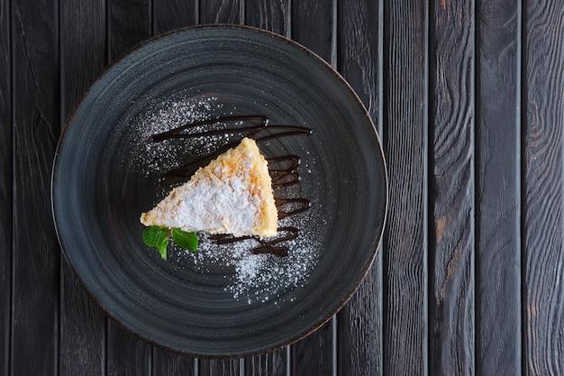 ナポレオンケーキの上から見る Premium写真