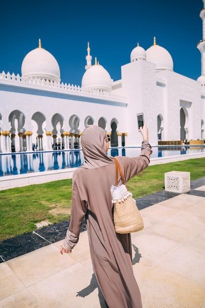 アブダビグランドモスク Premium写真
