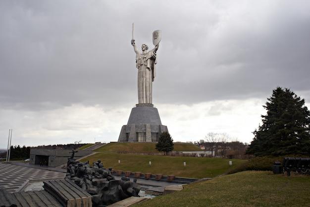 祖国記念碑、キエフ Premium写真