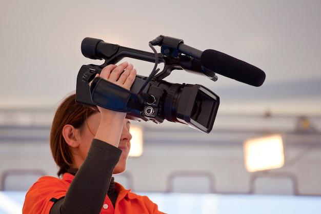 カメラの女性 Premium写真