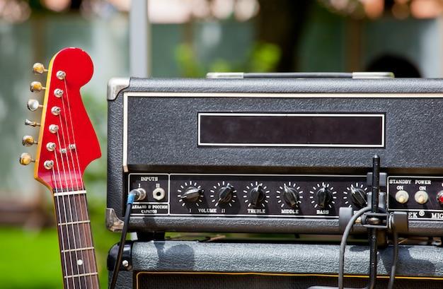 ギターと楽器 Premium写真