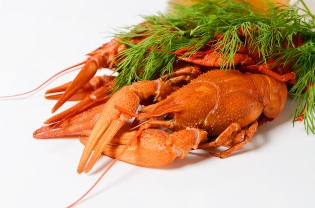 赤ゆでザリガニのシーフード料理 Premium写真