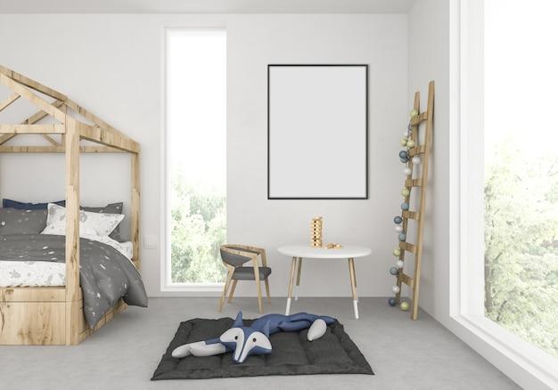 空の垂直フレームの子供部屋 Premium写真