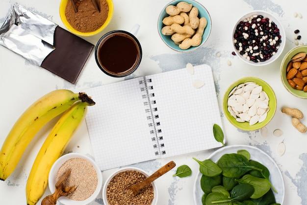 マグネシウムが豊富な食品 Premium写真