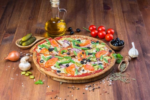 おいしい自家製ピザ Premium写真