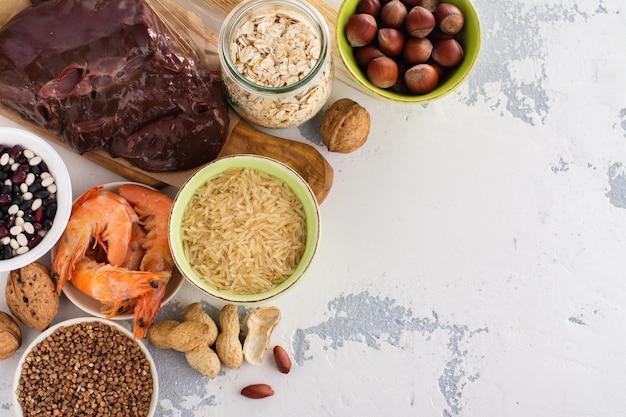 銅ミネラルが豊富な食品 Premium写真