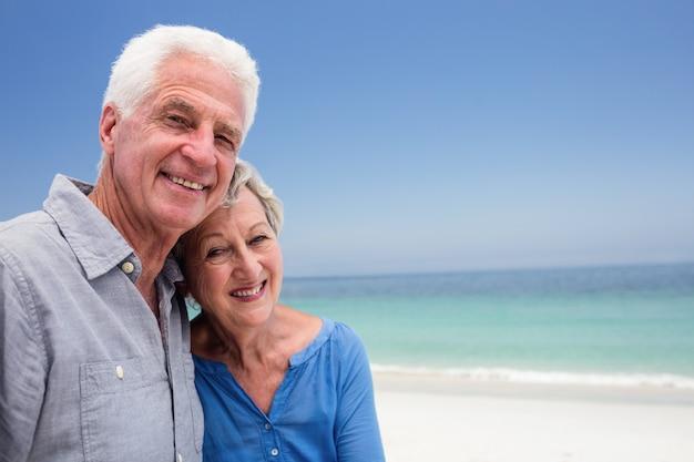 お互いを受け入れて年配のカップルの肖像画 Premium写真