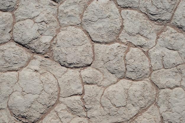 粘土質土壌の泥割れ。ソーサスフライ、ナミブナウクルフト国立公園-ナミビア Premium写真