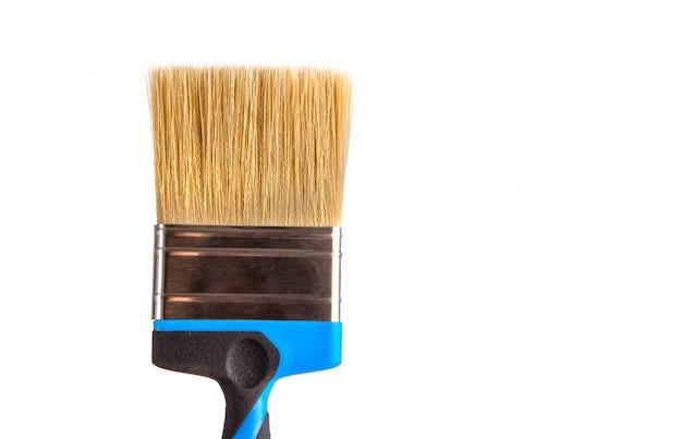 孤立した白地に自然な毛でペイントブラシ。 Premium写真