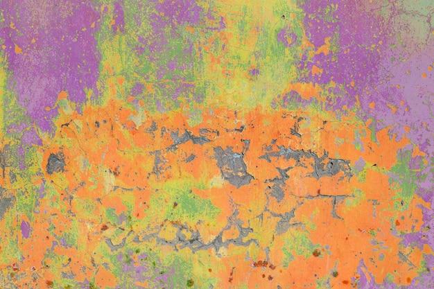 Абстрактные старые стены бетонная текстура тонированные в яркие цвета Premium Фотографии