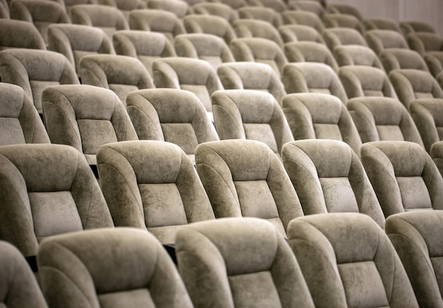 劇場の空の快適な座席 Premium写真