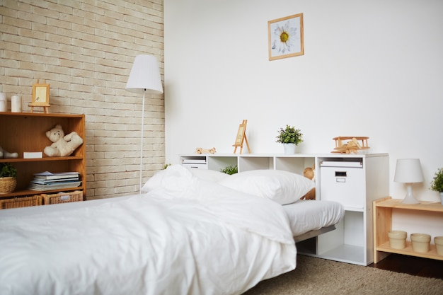 ベッドルームのインテリア 無料写真