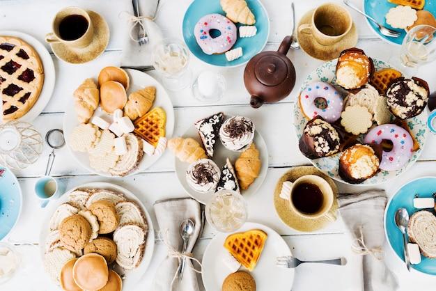 Десерт с чаем Бесплатные Фотографии