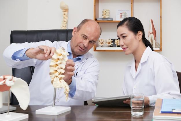 脊椎の問題の説明 無料写真