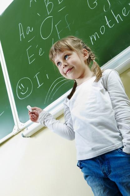 学校で文法を学習瞳 無料写真