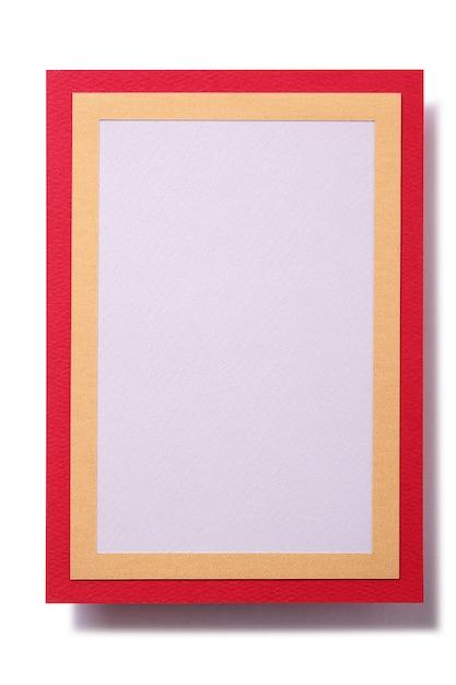 ギフトカード赤金枠テンプレート垂直 無料写真