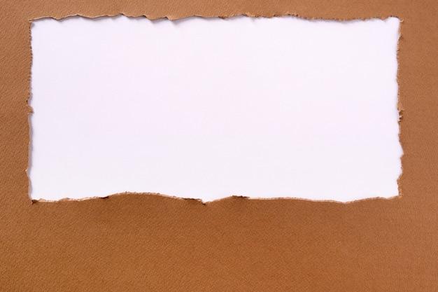 引き裂かれた茶色の紙フレーム長方形 無料写真