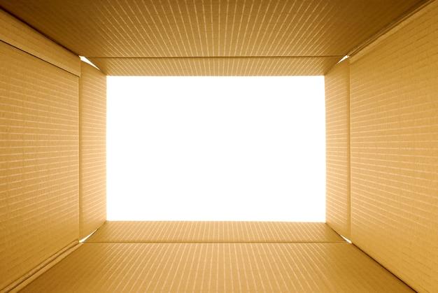 ビューの内側の段ボール箱 無料写真