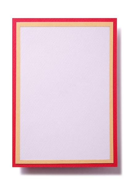 赤い枠でクリスマスギフトカード 無料写真