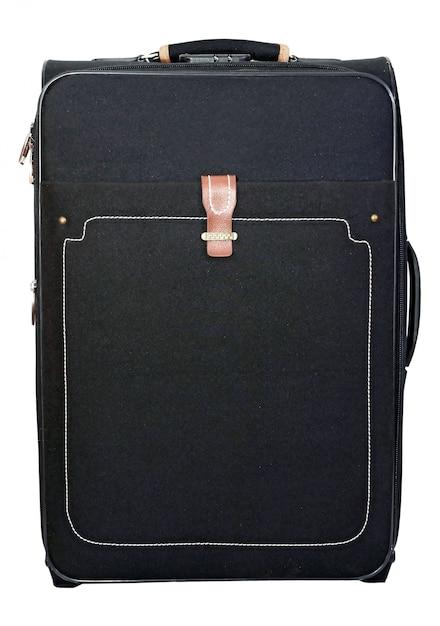 旅行や休息のための黒いスーツケース Premium写真
