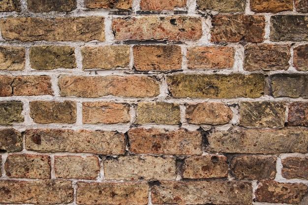 背景として古いレンガの壁のテクスチャ Premium写真