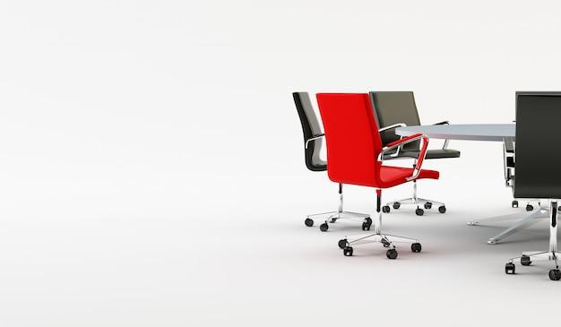 Стулья и офисный стол Premium Фотографии