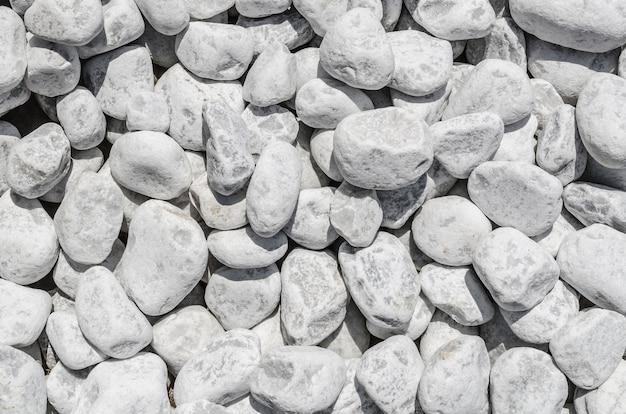Белая каменная гравийная текстура Premium Фотографии