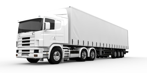 白いトラック Premium写真