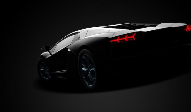 黒の現代スポーツカー Premium写真