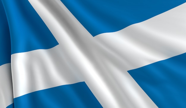 スコットランドの旗 Premium写真