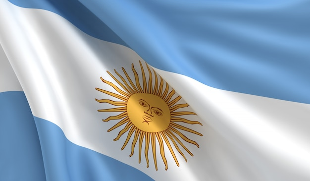 アルゼンチンの旗 Premium写真