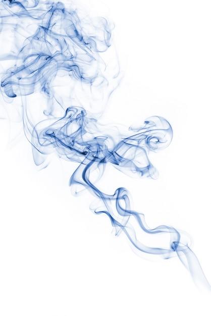 Голубая коллекция дыма на белом фоне Бесплатные Фотографии