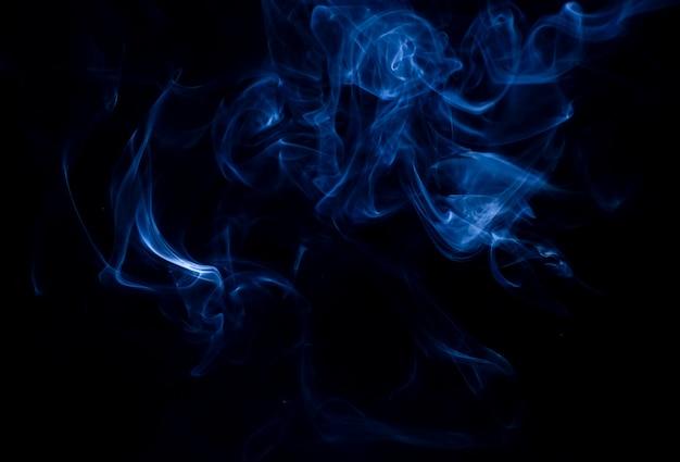 黒の背景に白い煙のコレクション 無料写真