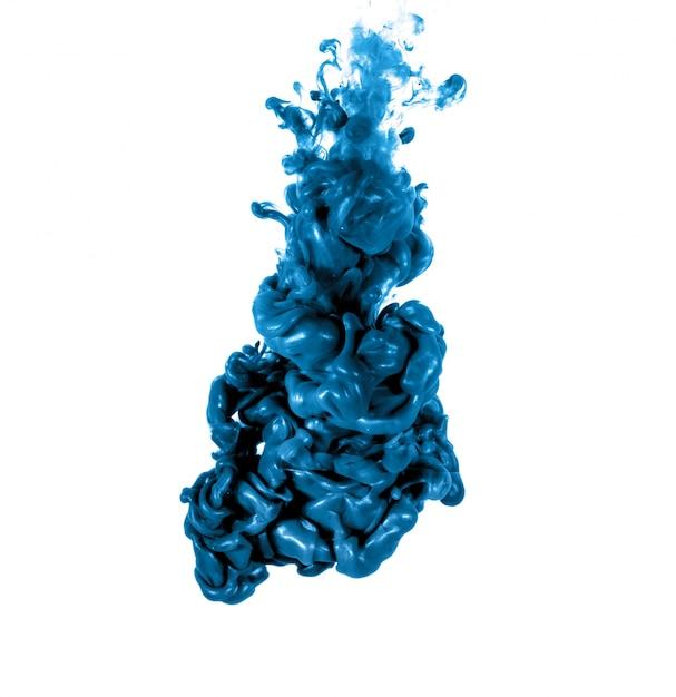 水に溶ける色で形成された抄録 無料写真