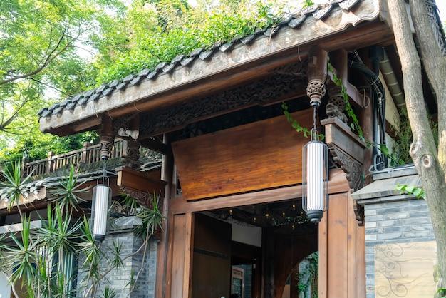 Старые здания в аллее куан и аллее чжай, чэнду, сычуань Premium Фотографии