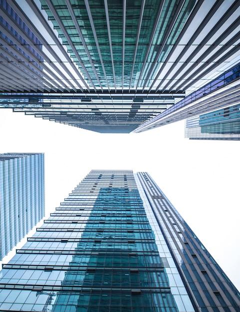 背の高いボトムブルーマンハッタン地区 無料写真