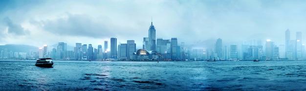 香港の夜 Premium写真