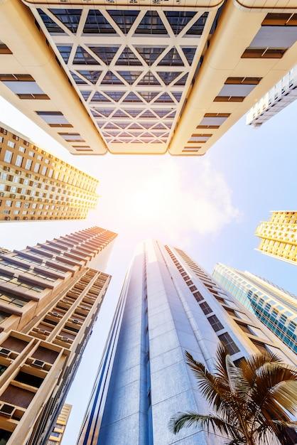 香港の高層ビル Premium写真