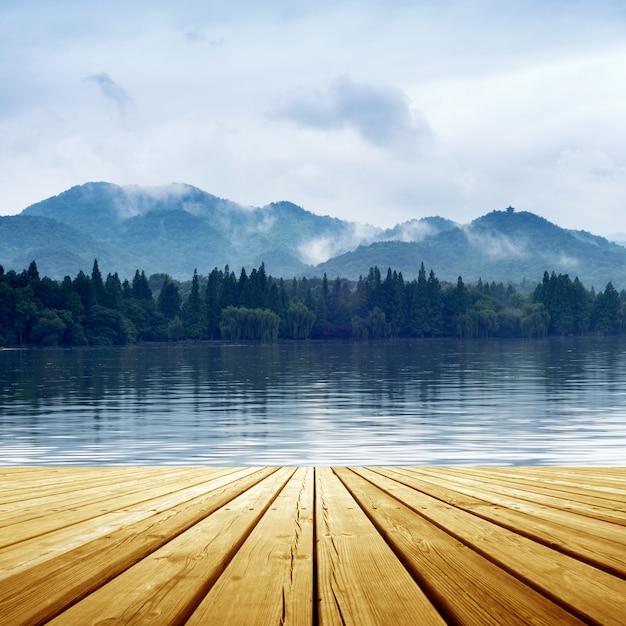 湖の風景 Premium写真