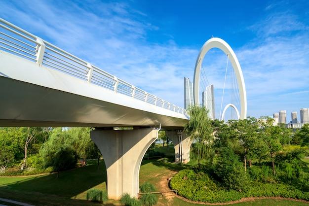 南京、中国にある近代的な橋 Premium写真