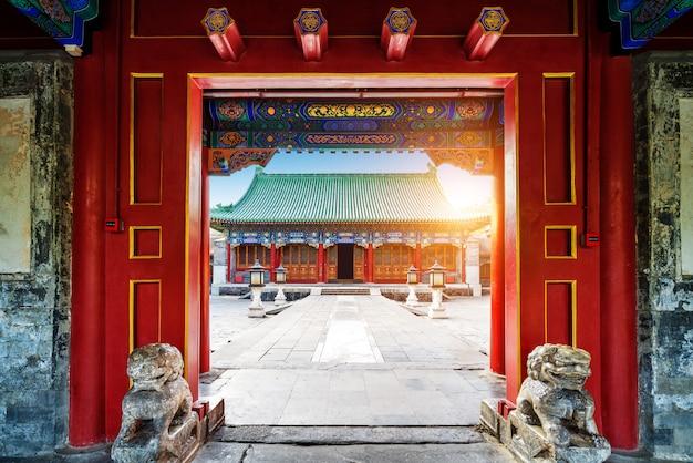 北京、中国の古代の建物 Premium写真