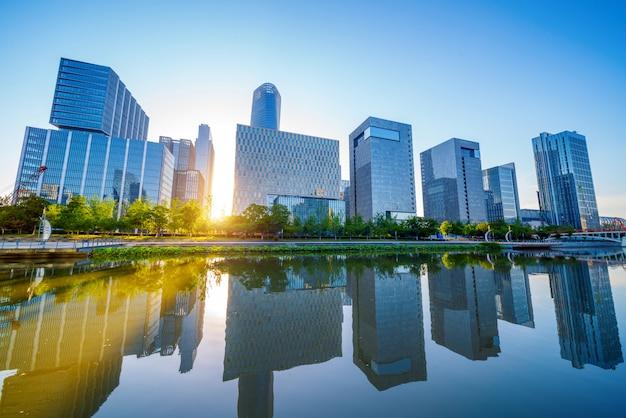 中国寧波の街並み Premium写真