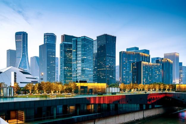 Ханчжоу ночной вид Premium Фотографии