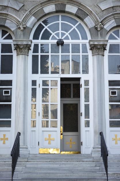 建物のホワイトドア 無料写真