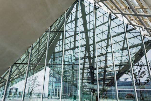 ガラス構造と鋼 無料写真