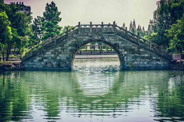 中国の公園の古い橋 無料写真