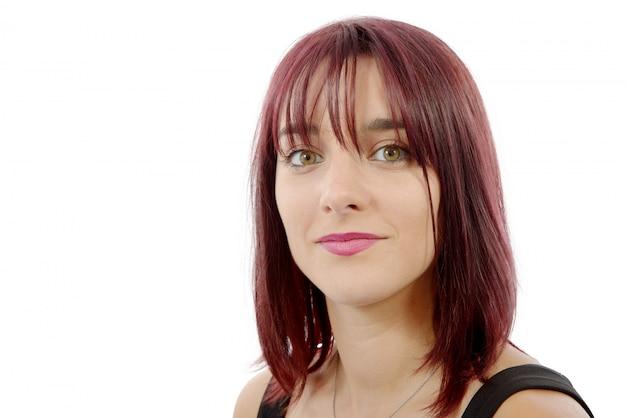 赤い毛を持つ美しい女性 Premium写真