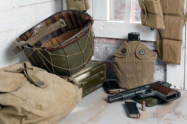 第二次世界大戦の米軍装備 Premium写真